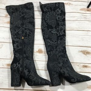 Embossed Design Boots